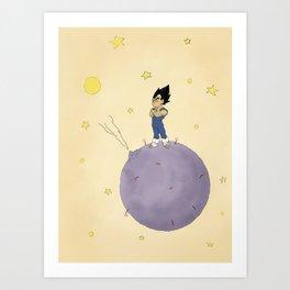 The Little Prince Of Saiyans Art Print