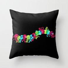 ninja moves (black) Throw Pillow