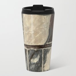 Textured Marble Popular Painterly Abstract Pattern - Black White Gray Red Travel Mug