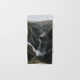 Voringsfossen Waterfall - Landscape and Nature Photography Hand & Bath Towel