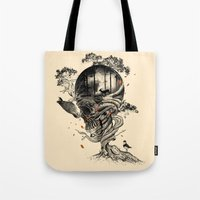 lost Tote Bags featuring Lost Translation by nicebleed