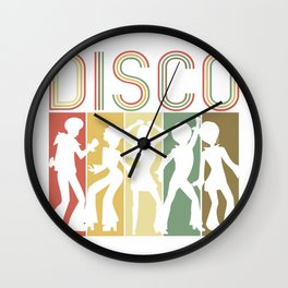 Retro Disco Dance Gift Vintage Groovy Disco 70s Gift   Wall Clock