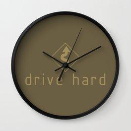 Drive Hard v4 HQvector Wall Clock