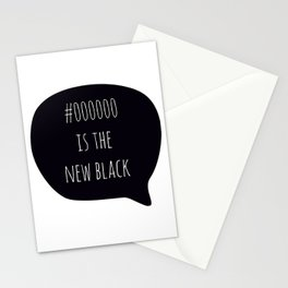 Black is the New Black Stationery Cards