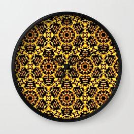 Sunny Gold Pattern Wall Clock