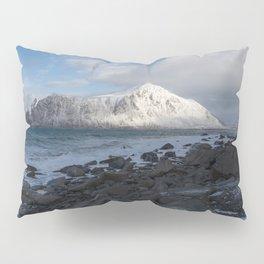 White, blue and grey Pillow Sham