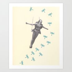 Oh to be a Dragonfly Art Print