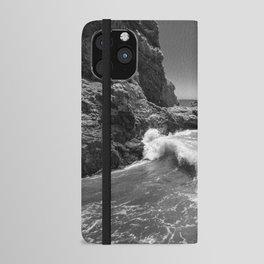 Waves crash along Rancho Palos Verdes coastline iPhone Wallet Case