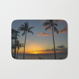 Hawaiian sunset Bath Mat
