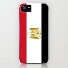 flag of egypt- Egyptian,nile,pyramid,pharaon,cleopatra,moses,cairo,alexandria. iPhone Case