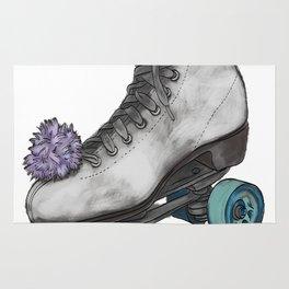 Roller Skate on White Rug
