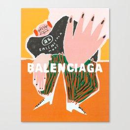 Balenciagga Mode Canvas Print