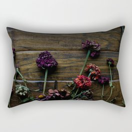 Fall Zinnias Rectangular Pillow