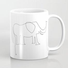 Line Elephant Coffee Mug