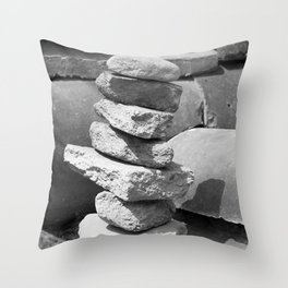 Stacked Rock Pile Throw Pillow
