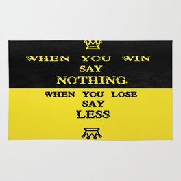 Paul Brown Wining & losing Quote sports inspiration quote Rug