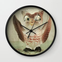 Owl Be Waiting Wall Clock