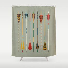 Vintage Arrows Shower Curtain