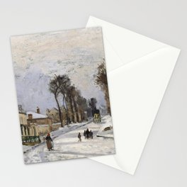 "Camille Pissarro ""Road to Versailles at Louveciennes""(1869) Stationery Cards"