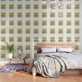 Watercolor yellow dandelion flowers Wallpaper