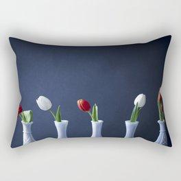 Tulips in Bud Vases Rectangular Pillow