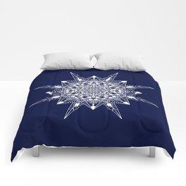 White Mandala Comforters
