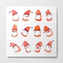 Happy Little Santas Metal Print