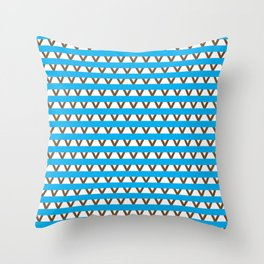 Paranoia (Baby Blue and Brown) Throw Pillow