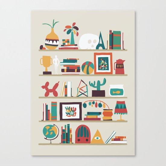 The shelf Canvas Print