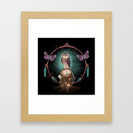 Enchanted Woodland Secret Keeper And Dream Catcher Framed Art Print