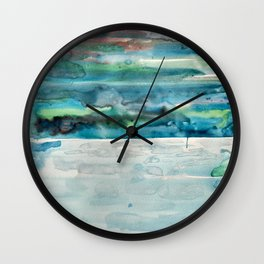 Miami Beach Watercolor #5 Wall Clock
