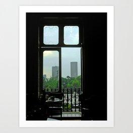 El D. F. Through the Window Art Print