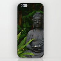 outdoor iPhone & iPod Skins featuring Outdoor Buddha Statue by Tianna Chantal