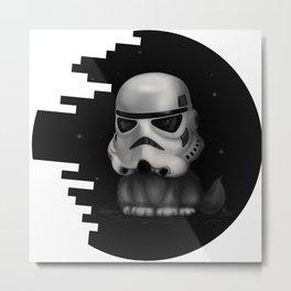Kitteh Star Trooper Metal Print