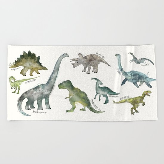 Dinosaurs Beach Towel