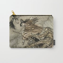 "Four Witches ""Up The Chimney"" by Arthur Rackam Carry-All Pouch"
