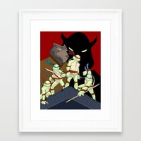 tmnt Framed Art Prints featuring TMNT by SquidInkDesigns