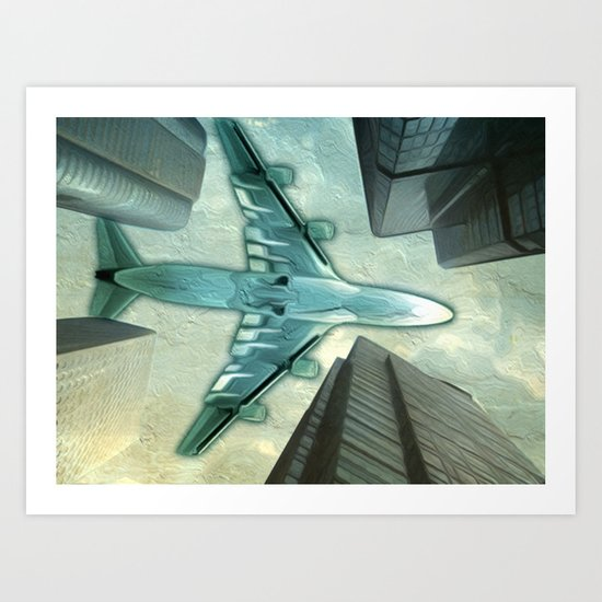 Flight path Art Print