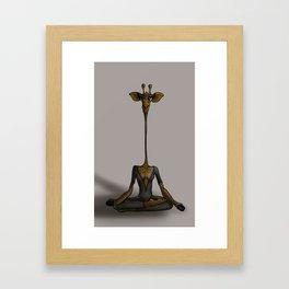 Bestiaire yog'girafe Framed Art Print