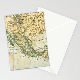 North America Vintage Encyclopedia Map Stationery Cards