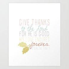 Give Thanks Art Print