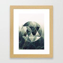 Geometric Forest Framed Art Print