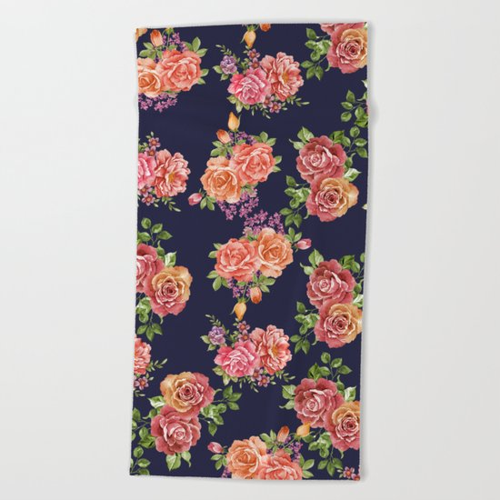 nature floral  Beach Towel