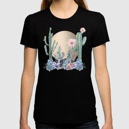Desert Sun + Gemstones Gold Marble T-shirt