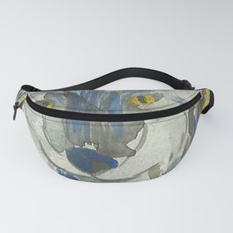 Watercolor Wolf Fanny Pack