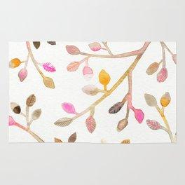 Pastel Leaves Rug