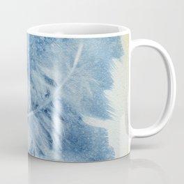 White on Blue Coffee Mug