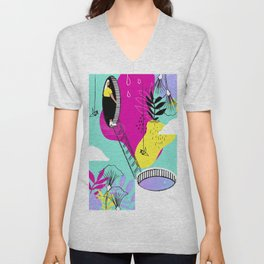 Daydreaming in ChromaCity Unisex V-Neck
