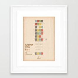 Classic Games - Mastermind Framed Art Print