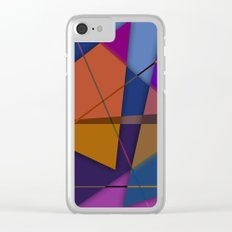 Abstract #435 Clear iPhone Case